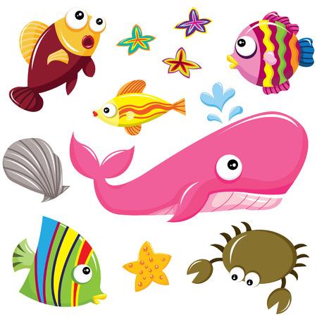 peces caricatura: Submarino Vectores