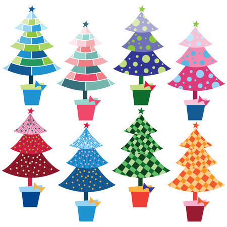 Christmas Trees element Vector