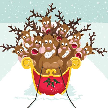 public celebratory event: Cute Christmas Reindeer