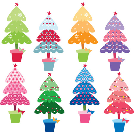public celebratory event: Patterned Christmas Trees