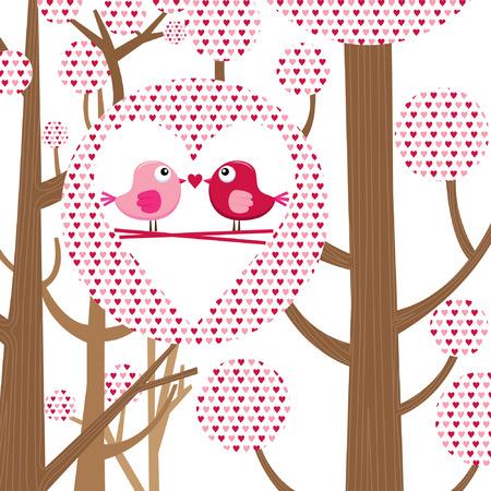 love bird: Love Bird Valentine Card