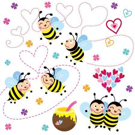 happy valentine: Happy Valentine love Bee