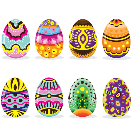 animal pattern: Easter Eggs Set