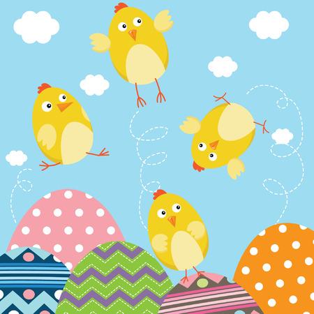 Happy Easter Newborn Baby Chicks Stock Vector - 41722044