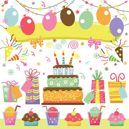 Verrassing verjaardag Stock Illustratie