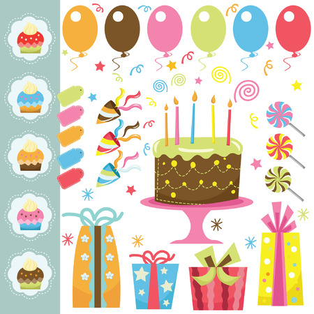 birthday cakes: Birthday Party Elements