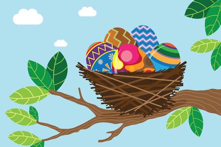 Pasen Nest Stock Illustratie