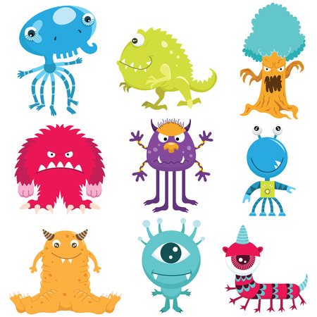 Cute Monster Collection Set Banco de Imagens - 41722097