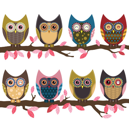 owl illustration: Retro Cute Owl