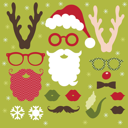 stage costume: Set of Christmas Elements Illustration