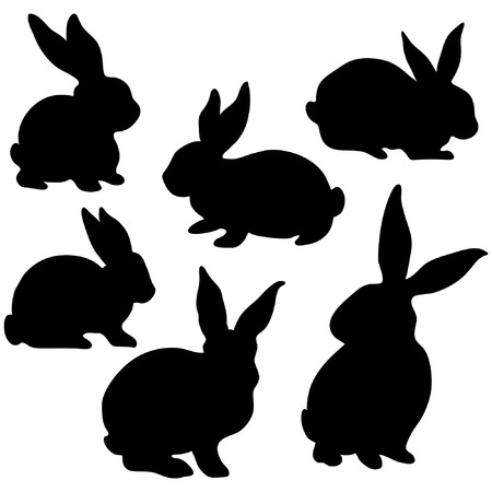 rabbit clipart: Easter Bunny Silhouette Illustration