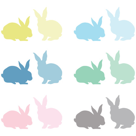 card making: Bunny Silhouette Illustration