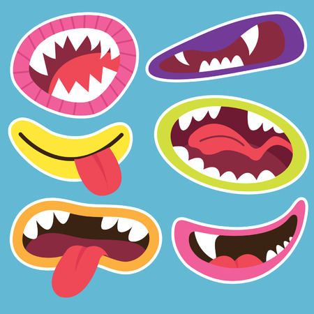 tongue out: Cute Monsters Mouths