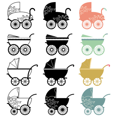Vintage Baby Carriage Illustration