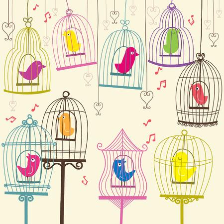 Retro Lovely Birdcage