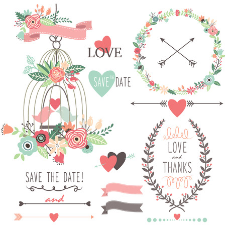 wedding: Vintage Wedding Flowers and Birdcage
