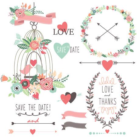 Vintage Wedding Flowers and Birdcage Zdjęcie Seryjne - 41722206