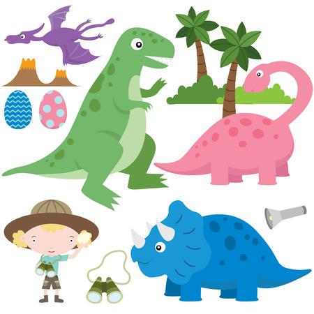 Schattige Dinosaurs