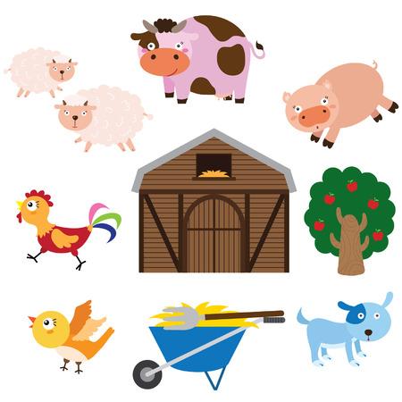 Farm Animals Set Stock Illustratie