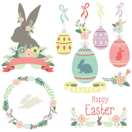 Happy Easter day Collections Illustration