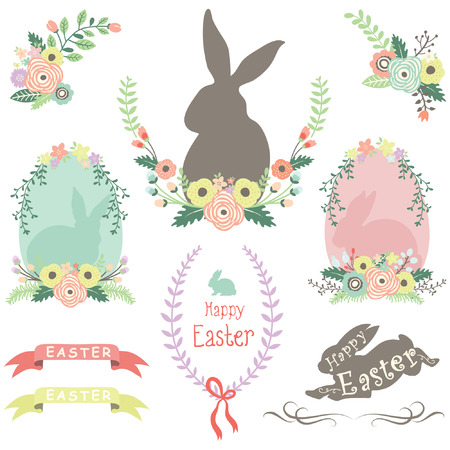 spring: Easter Spring Elements Illustration