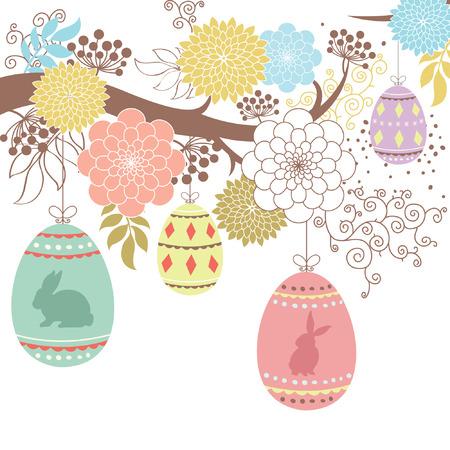 arbol de pascua: Feliz Pascua Vectores