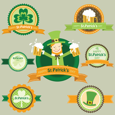 leafed: St.Patricks Day frame banner elements Illustration
