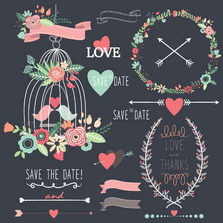 birdcage: Chalkboard Birdcage Wedding Flowers