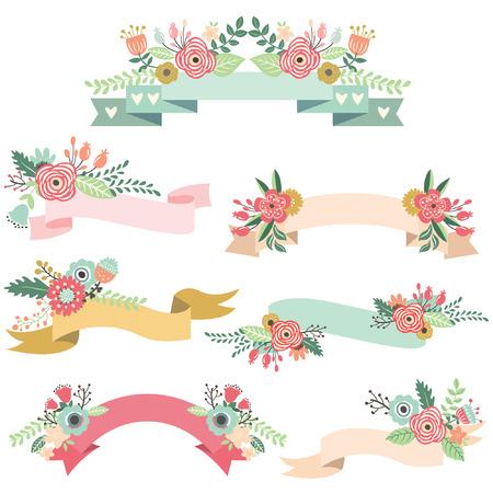 結婚式の花のバナー