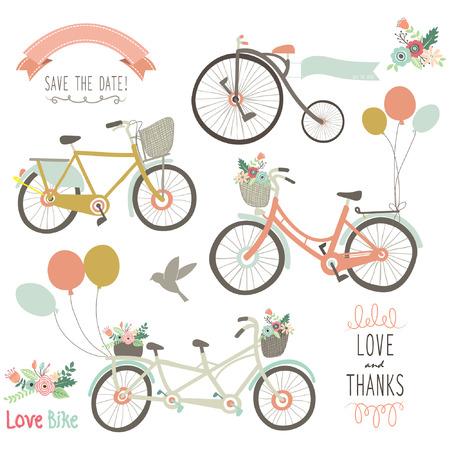 빈티지 손으로 그린 자전거