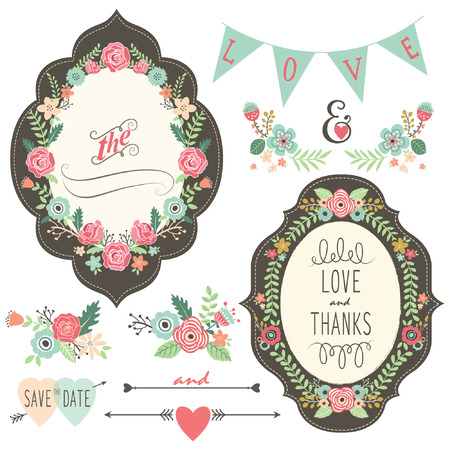 Vintage Wedding Flora Frame