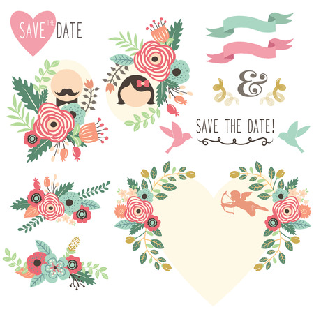 wedding card design: Vintage Wedding Flora Invitation