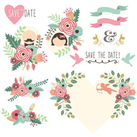 Vintage Wedding Flora Uitnodiging