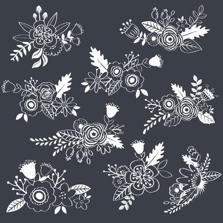 칠판 빈티지 꽃 스톡 콘텐츠 - 42212079