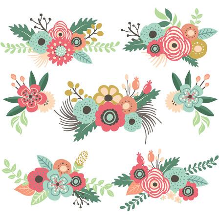 빈티지 꽃 세트 스톡 콘텐츠 - 42212085