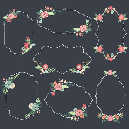 wreath collection: Chalkboard Wedding Frame
