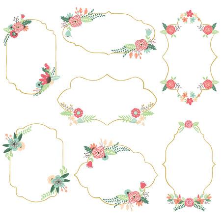 빈티지 꽃 프레임 스톡 콘텐츠 - 42845671