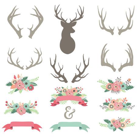 formal garden: Wedding Flower Antlers Set