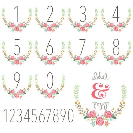 wedding day: Numeric Wreath