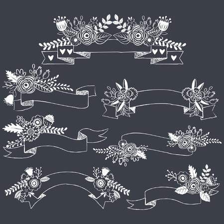formal garden: Chalkboard Wedding Flower Banner