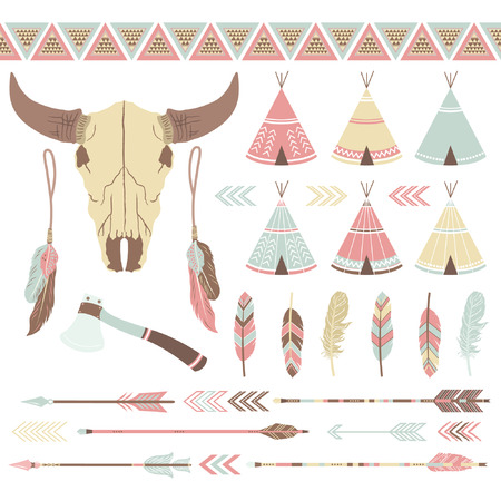 indian feather: Indian Ethnicity Collection Illustration