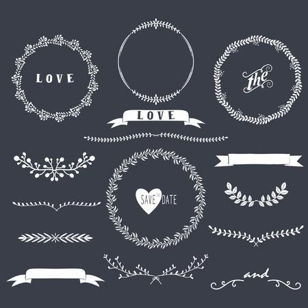 ślub: Chalkboard Laurels Kolekcje