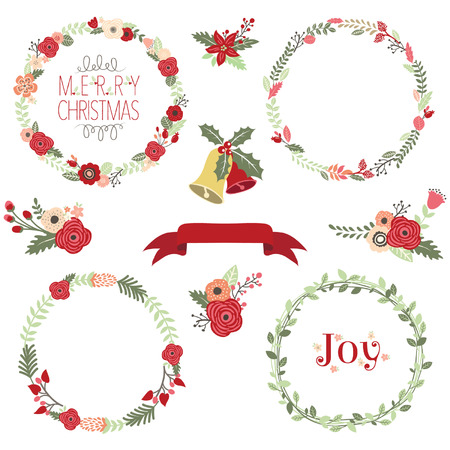 christmas bells: Christmas Wreath Clip Art