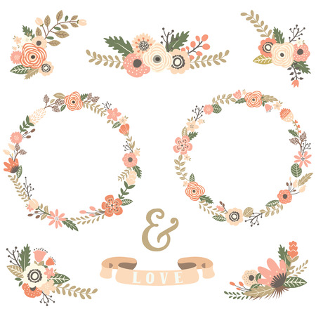 Vintage Flowers Wreath Collections