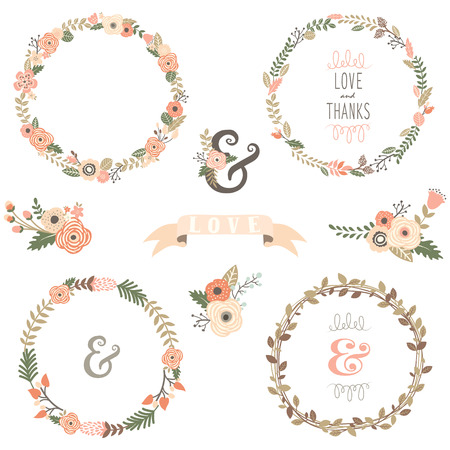 making a save: Vintage Flowers Wreath