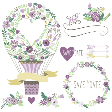 floral vintage: Vintage Floral Hot Air Balloon