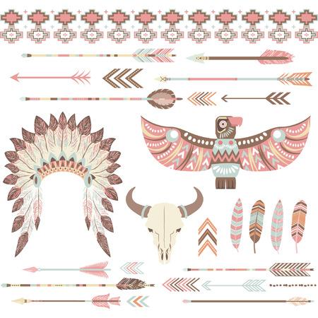 部族のインディアンはクリップ アート コレクション  イラスト・ベクター素材
