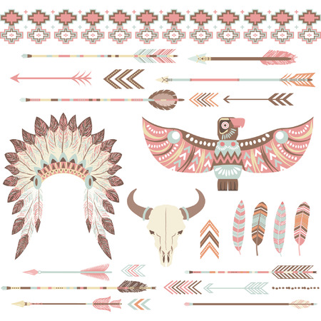 american indian aztec: Tribal Indian Clip Art Collections