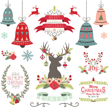 Merry Christmas Elements Zdjęcie Seryjne - 44525151