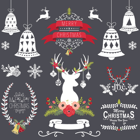 chalk drawing: Christmas Chalkboard Collection